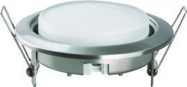 Светильник встраиваемый металлический Camelion матовый хром FM1-GX53-С