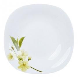 Тарелка десертная La Opala Quadra Подснежник 20,5см 04-F02