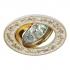 Светильник точечный Эра KL56 GD-WH литой MR16 12В, 220В 50Вт белый с золотом