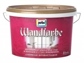 Краска для внутренних работ JOBI WandFarbe дисперсионная 2,5л