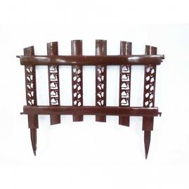 Забор декор Палисадник темно-коричневый