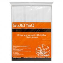 Штора для ванной комнаты Swensa Tiko 180х180см белый, PEVA SWC-50-09