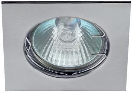 Точечный светильник Эра KL2 литой квадрат MR16,12В-220В, 50Вт хром
