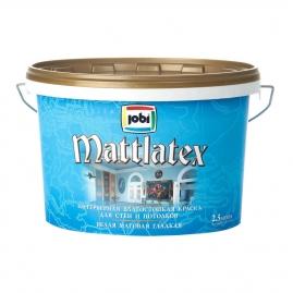 Краска для внутренних работ JOBI Mattlatex O4 латексная, влагостойкая 2,5л