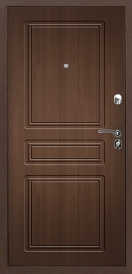 Дверь металлическая VALBERG Б4 ПРАКТИК антик медный/Рационалист орех премиум 2066x880мм левая