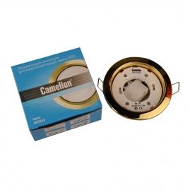 Светильник встраиваемый металлический Camelion золото FM1-GX53-G