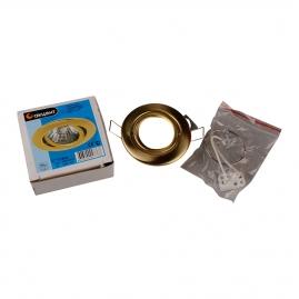 Точечный светильник Акцент 113 АА 1х50W GU5,3 золото, поворотный
