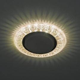 Светильник точечный Эра DK LD22 CHP-WH cо светодиодной подсветкой Gx53 шампань