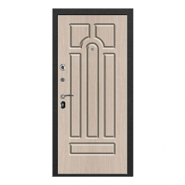 Дверь металлическая VALBERG ПР2 СОЛОМОН муар/Кэпитол ель 2066x880мм левая