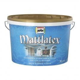 Краска для внутренних работ JOBI Mattlatex O4 латексная, влагостойкая 10л/12л
