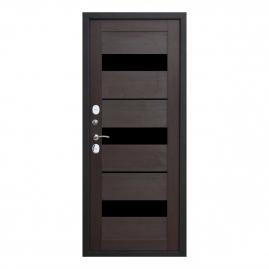 Дверь металлическая ISOTERMA серебро темный кипарис царга 2050x960мм левая