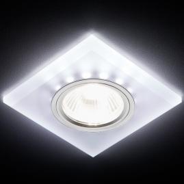 Светильник точечный Ambrella light S215 W-CH-WH матовый, хром MR16+3W LED WHITE