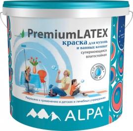 Краска ПремиумЛатекс для кухонь и ванных комнат, акриловая, влагостойкая 10Л