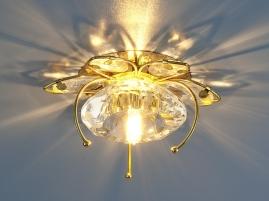 Точечный светильник Elektrostandard 7291 G4 золото, прозрачный