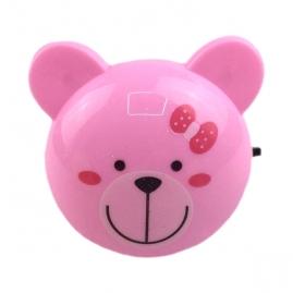 Ночник с выключателем Camelion NL-189, розовый мишка, 220В