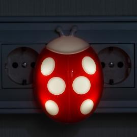 Ночник Эра NN-601-LS-R сенсор  красный
