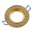 """Точечный светильник Эра KL28 А GU/G литой поворотный """"антик Т"""" MR16, 12V, 50W черный металл/золото"""