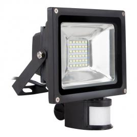 Прожектор светодиодный Smartbuy с датчиком движения 20Вт 6500K IP65 FLSen 20 65K черный