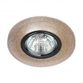 Точечный светильник Эра DK LD1 BR cо светодиодной подсветкой 3Вт коричневый