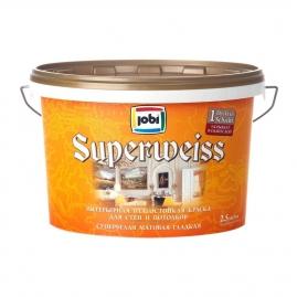 Краска для внутренних работ JOBI Superweiss L3 влагостойкая 2,5л