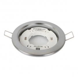 Светильник точечный встраиваемый Ultraflash GX-53-04 220В металл матовый хром 14058