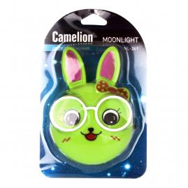 Ночник Camelion NL-241 светодиодный с выключателем зайцы очкарики 220В 13816