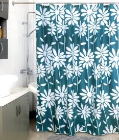 Шторка для ванной Milardo Flowers Blue 950P180M11