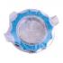 """Точечный светильник Эра DK17 CH/SHBL1 """"звезда со стеклянной крошкой"""" MR16, 12V, 50W, хром/голубой"""