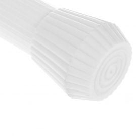 Карниз из стали выкручивающийся Vanstore 650-10 25мм 130-240 белый