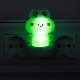 Ночник Эра NN-608-SW-GR с выключателем лягушка зеленый