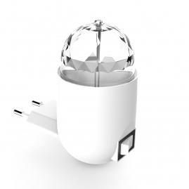Светильник Gauss с фиксированной проекцией диско 3Вт белый с вилкой 1-100